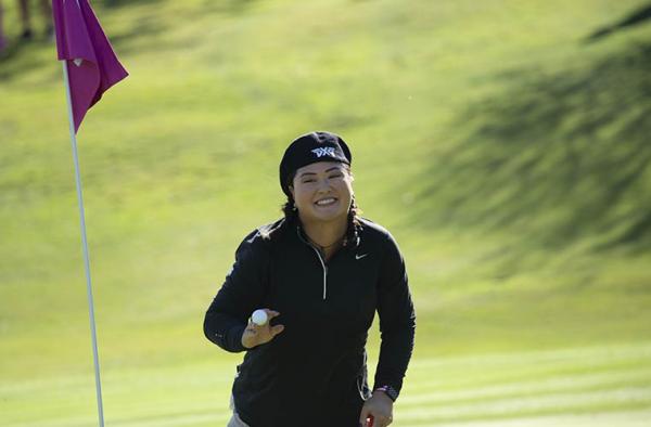 Christina Kim in control on the Costa Del Sol