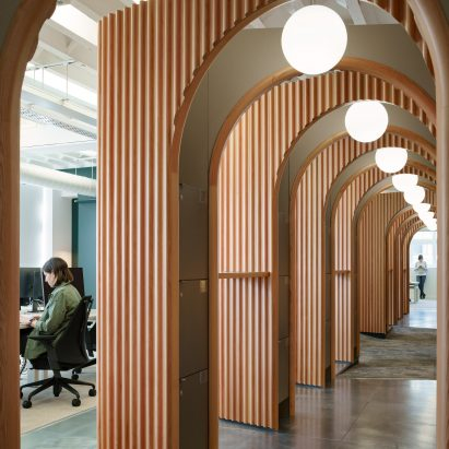Threefold Architects completes Airbnb's latest London office