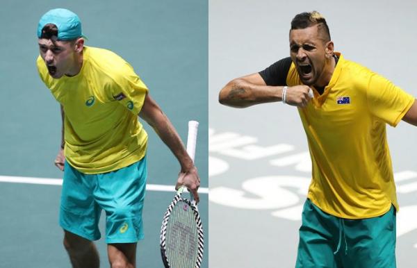 De Minaur, Kyrgios guide Aussies into Davis Cup quarterfinals