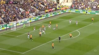 Video: Ruben Neves scores set-piece straight off the training ground as Wolves take lead vs Aston Villa