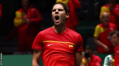 Davis Cup: Rafael Nadal helps Spain into quarter-finals but Croatia are out
