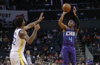 Graham hits 10 3s, Hornets spoil Russell's return 106-91