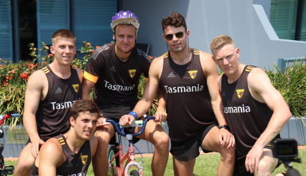 The Hawks get on the bikes for a good cause