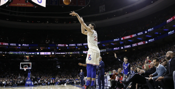 Ben Simmons hits antother three, scores 34 points to lead 76ers past Cavaliers