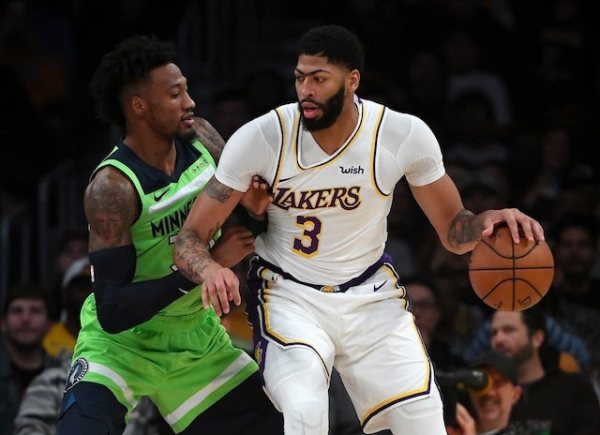Anthony Davis' Season-High 50 Points Leads Lakers Past Timberwolves