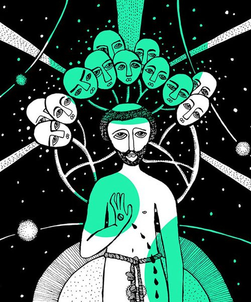 maru ceballos translates dante's 'divine comedy' into striking illustrations