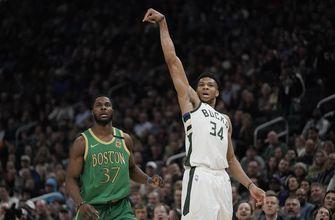 Antetokounmpo, Bucks hold off Celtics, 128-123