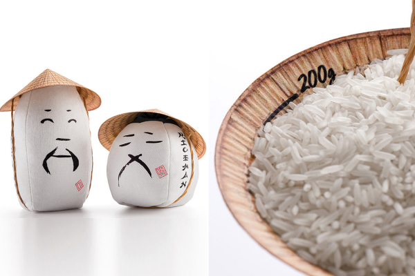 This reinvented sustainable packaging design pays homage to the rice farmers