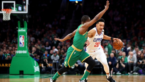 Landry Shamet sends Celtics-Clippers to 2OT, where he gets crossed badly by Kemba Walker (videos)