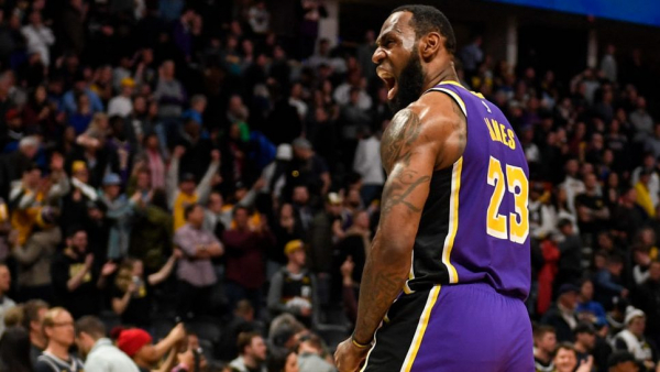 LeBron James' triple-double leads Lakers to overtime win in Denver