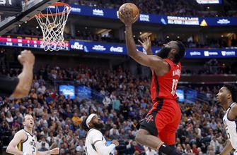 Harden, Westbrook combine for 72, Rockets beat Jazz 120-110