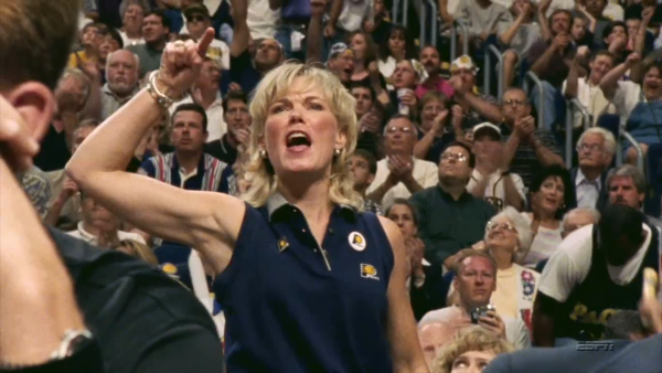 Suddenly famous Pacers fan: 'We took it seriously, but it was SO MUCH fun' (video)