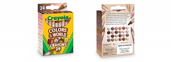 crayola introduces new box with skin tone-inspired crayon colors