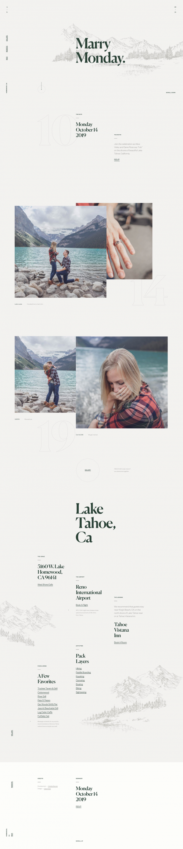 Website Inspiration: Veley / Ross Wedding