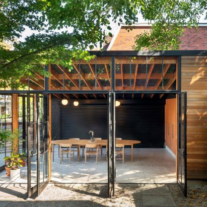 Office Ou turns Toronto garage into workshop, conservatory and dining room