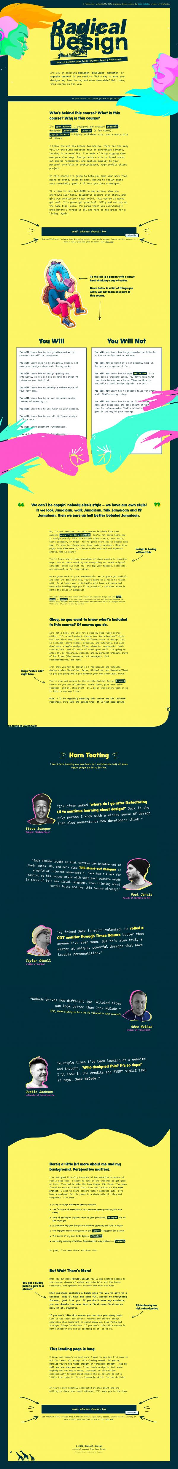 Website Inspiration: Radical Design