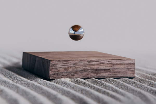 A magnetically floating ball that adds zen to your modern minimal lifestyle