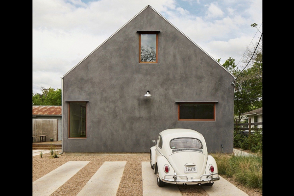 A child's drawing of a house is the inspiration behind this totally zen home!