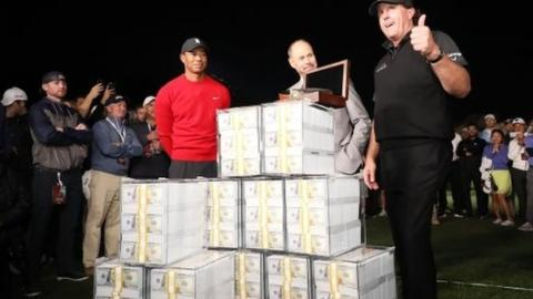 Tiger Woods, Phil Mickelson, Tom Brady and Peyton Manning take on $10m golf challenge