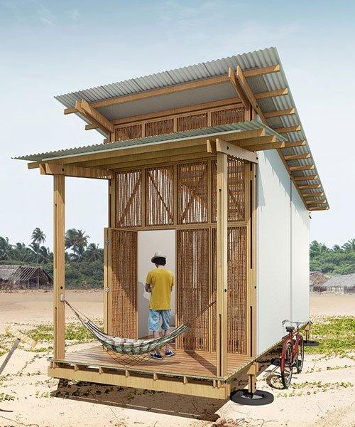 bernardo horta designs low-tech timber modules for a shared living community in brazil