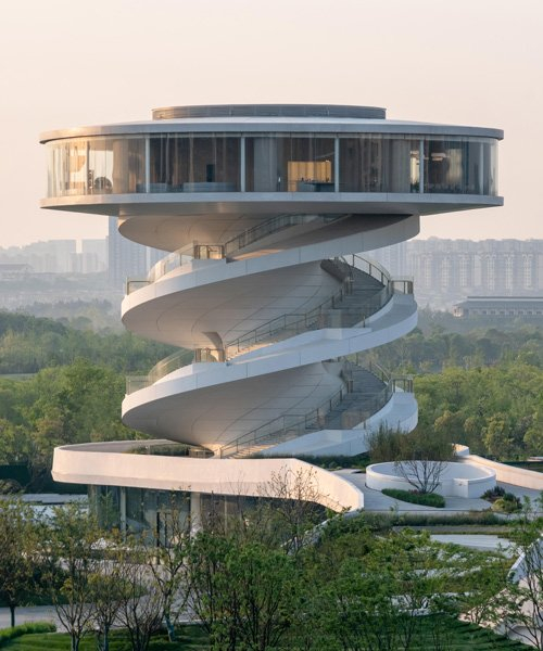 nordic office of architecture designs spiraling observation tower as part of 'nanchang waves'