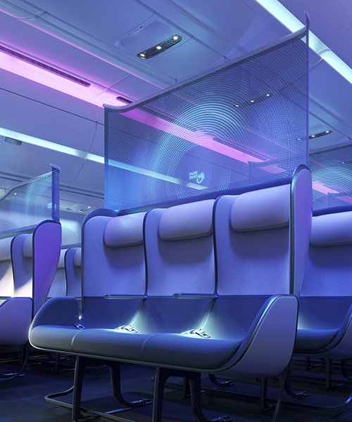 priestmangoode's pure skies cabin design is their vision of tomorrow's air travel