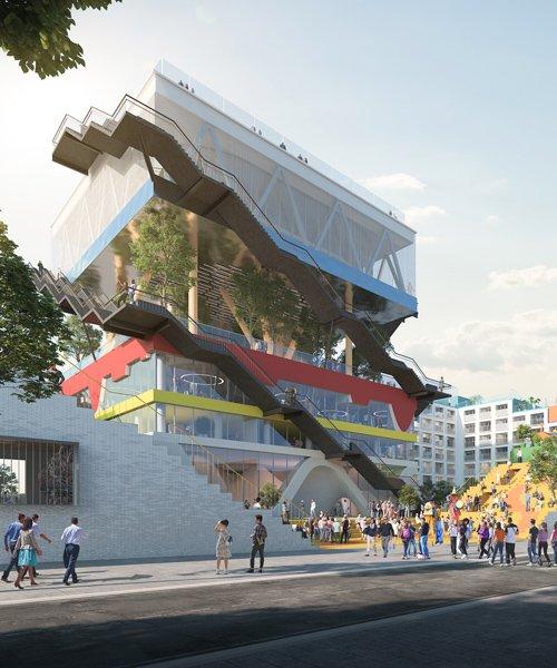 MVRDV to transform its expo pavilion 2.0, expressing stacked dutch landscapes
