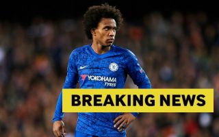 Chelsea send message to Willian ahead of imminent Arsenal transfer