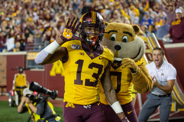 Minnesota wide receiver Rashod Bateman, likely first-round NFL pick, opts out of the 2020 season