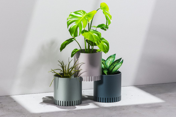 Stackable planters allow you to create a modular ecosystem within your home
