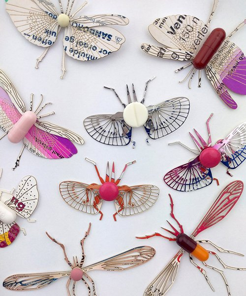 merel slootheer compares insects to drugs with delicate 'insecta – pharma' artwork