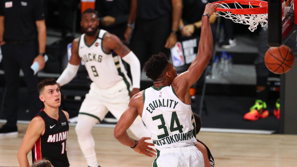 Giannis Antetokounmpo drops 33 on Heat, Bucks secure No. 1 seed