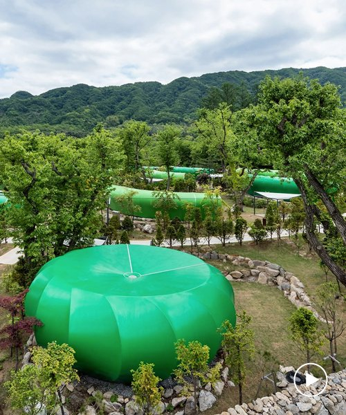 the glamtree resort by archiworkshop nestles into a forest in south korea