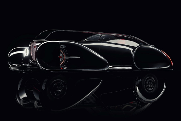 The Bugatti Next-57 Concept looks like a glorious Chariot from a steampunk future!