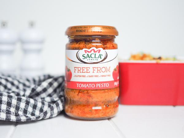 Creamy Tomato Pesto Pasta Bake