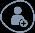 kids individual account icon