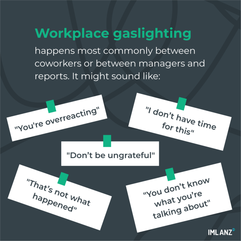 signs of gaslighting at work
