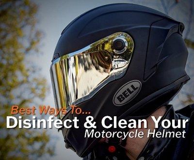Best Ways To Disinfect & Clean Your Motorcycle Helmet image