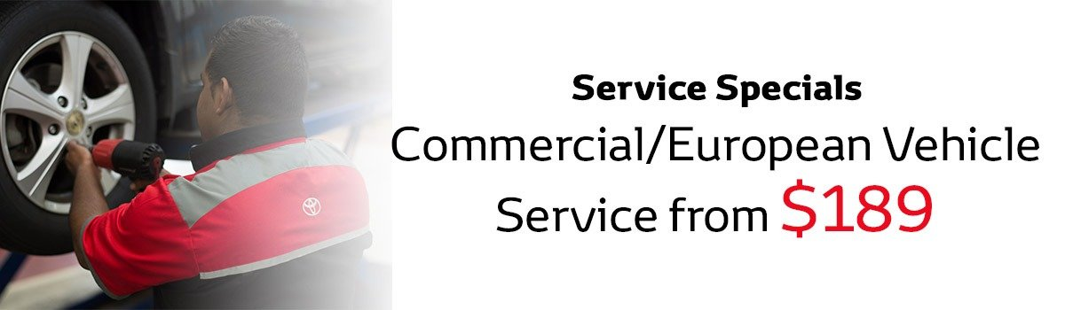 Commercial/ European Vehicle Service Special from only $189 Large Image
