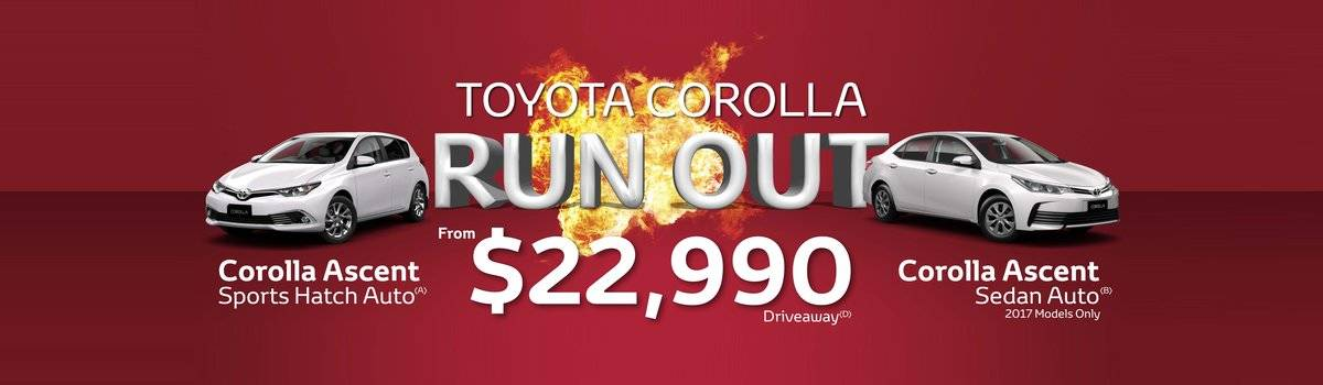 Waverley Toyota's Great Deals on Corollas Large Image