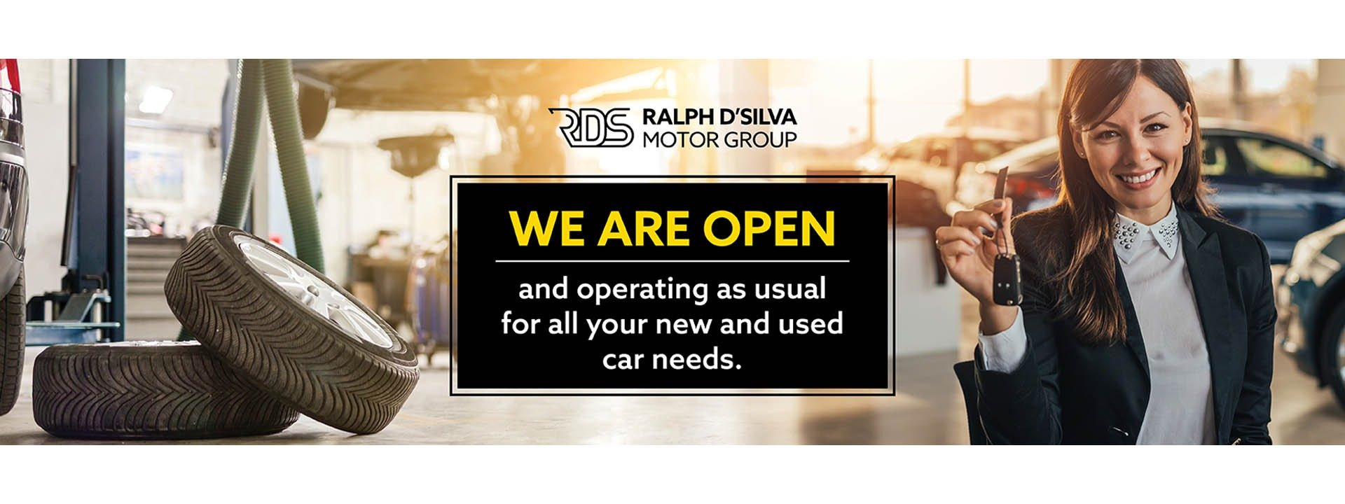 RDS Hyundai   We are open