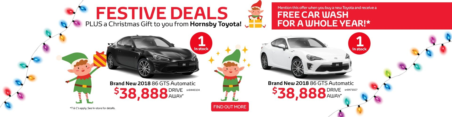 Festive Deals at Hornsby Toyota