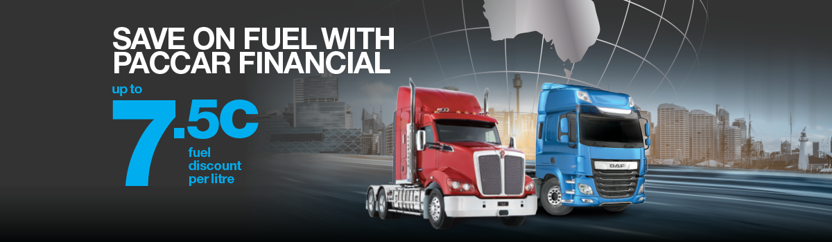 SAVE ON FUEL WITH PACCAR FINANCIAL & HALLAM TRUCK CENTRE Large Image