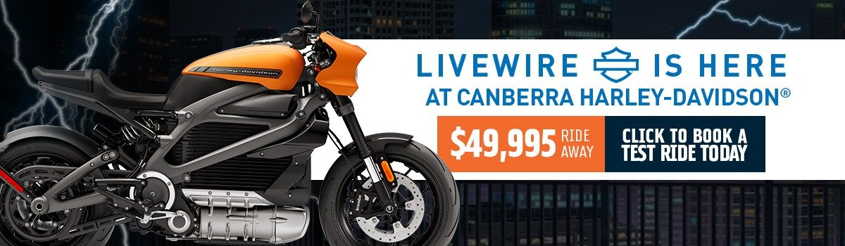 LiveWire® Has Arrived At Canberra H-D®  Large Image