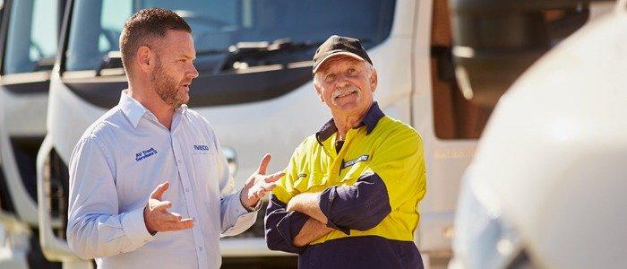 Expert people in truck at AV Trucks | WA