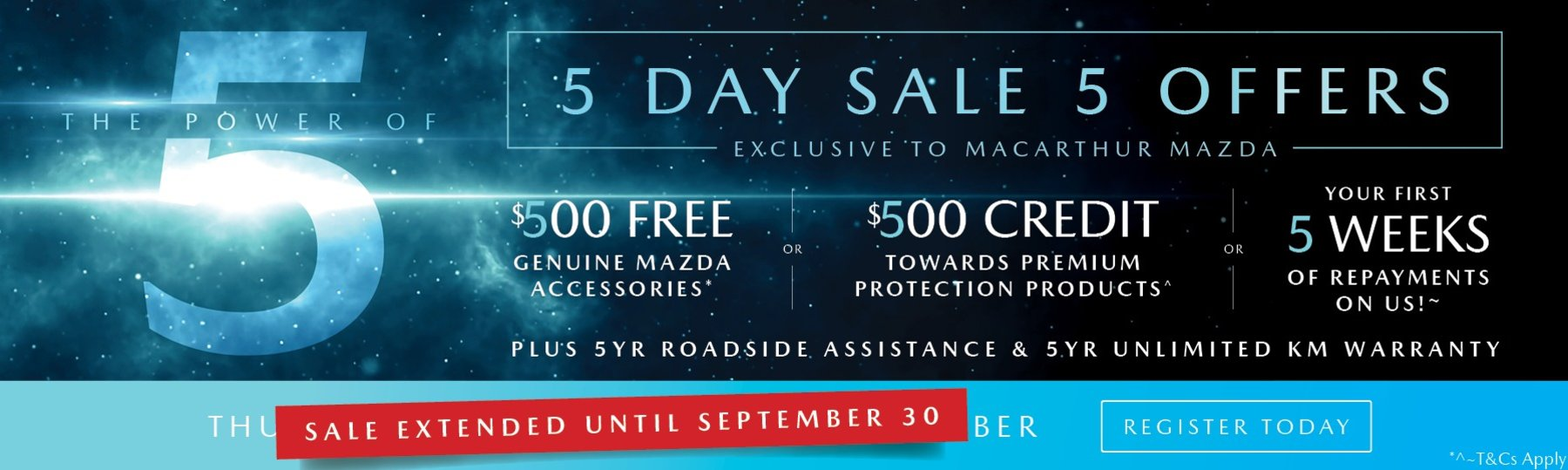 Power of 5 Sale Extended