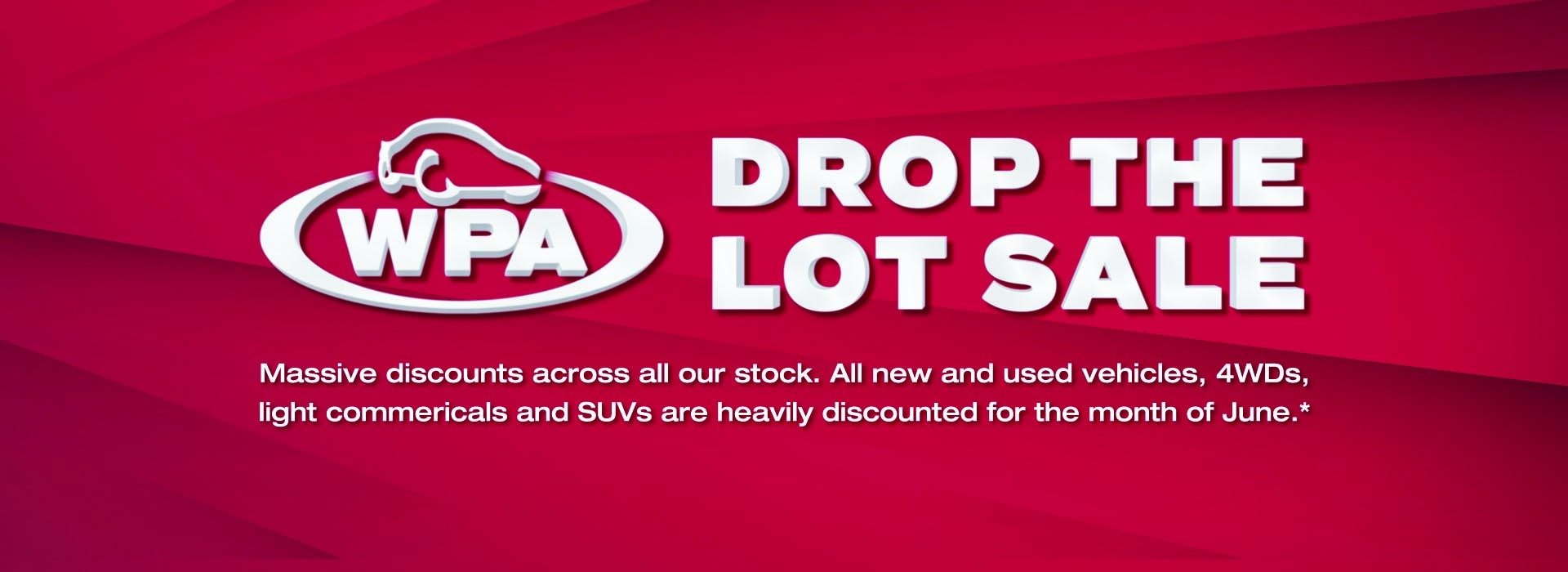 Western Plains Mitsubishi | Drop The Lot Sale Banner