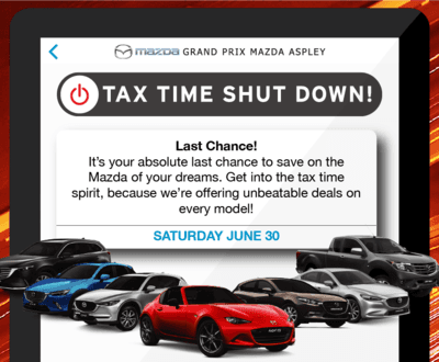Tax Time Shut Down image