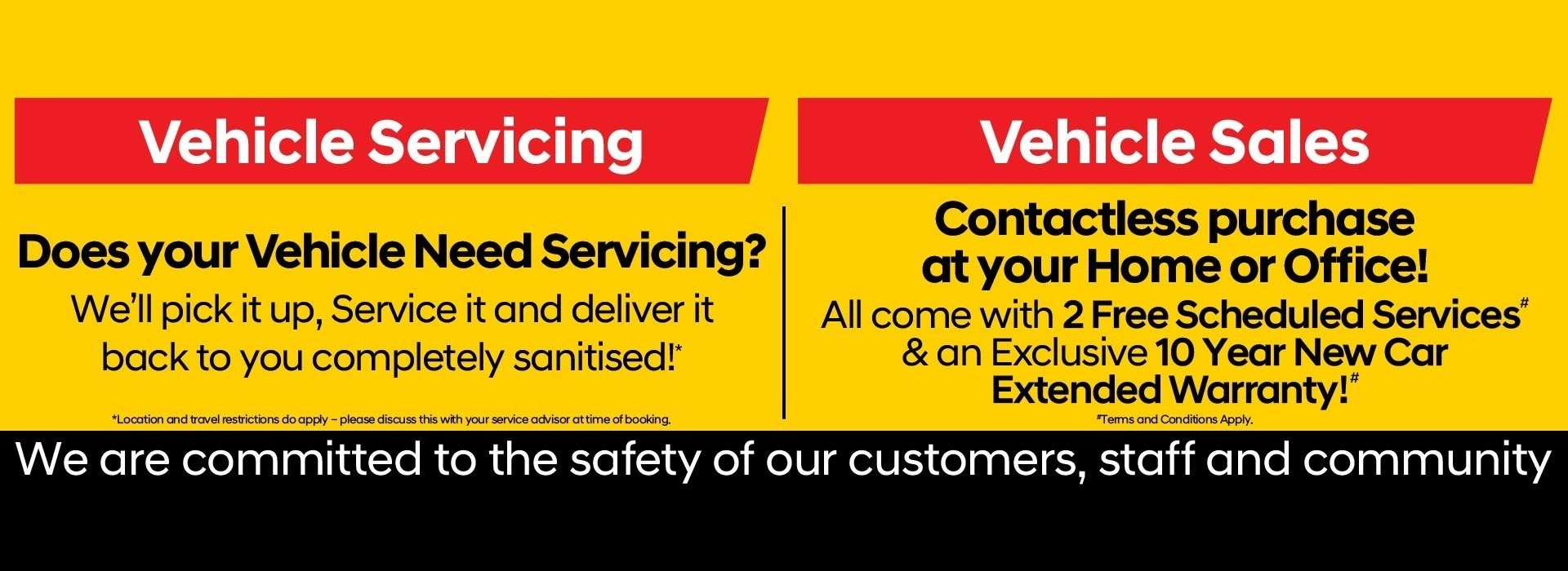 Contactless Sales & Service banner