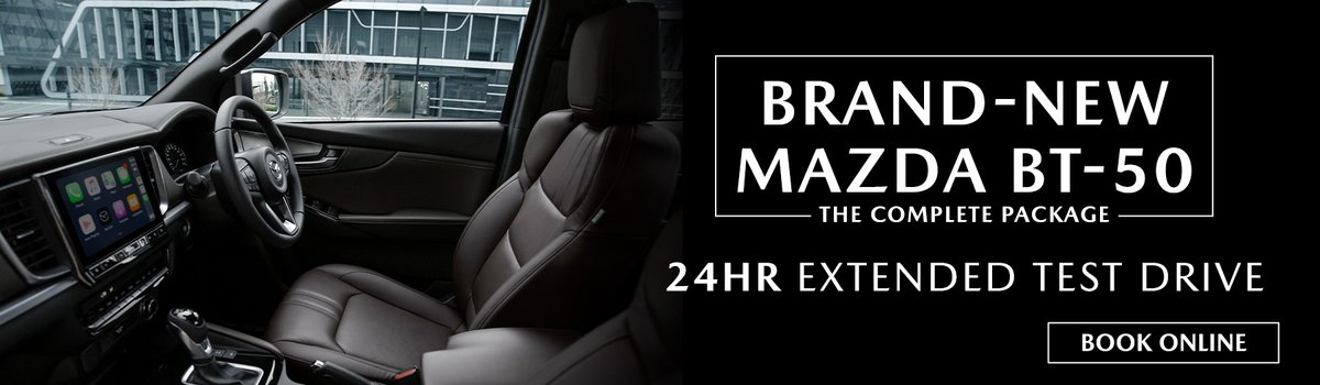 Book an extended test drive of the brand-new Mazda BT-50 at Penfold Mazda! Large Image